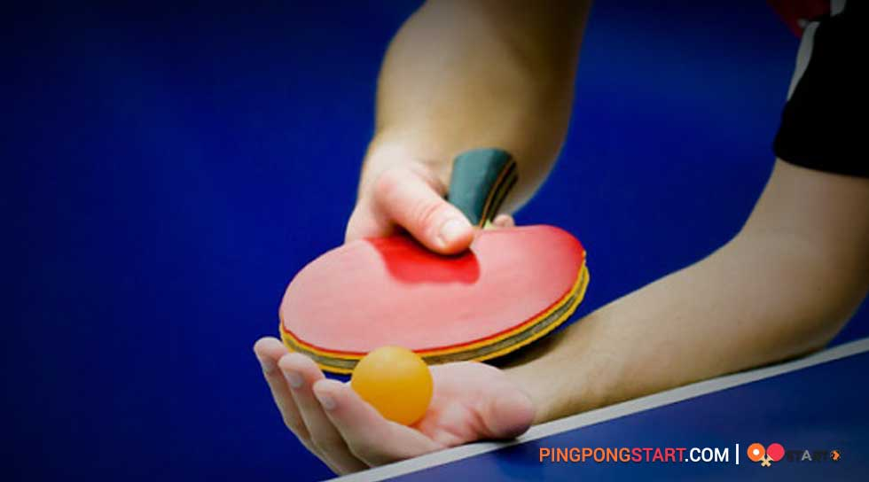 Hold a ping pong paddle corectly style
