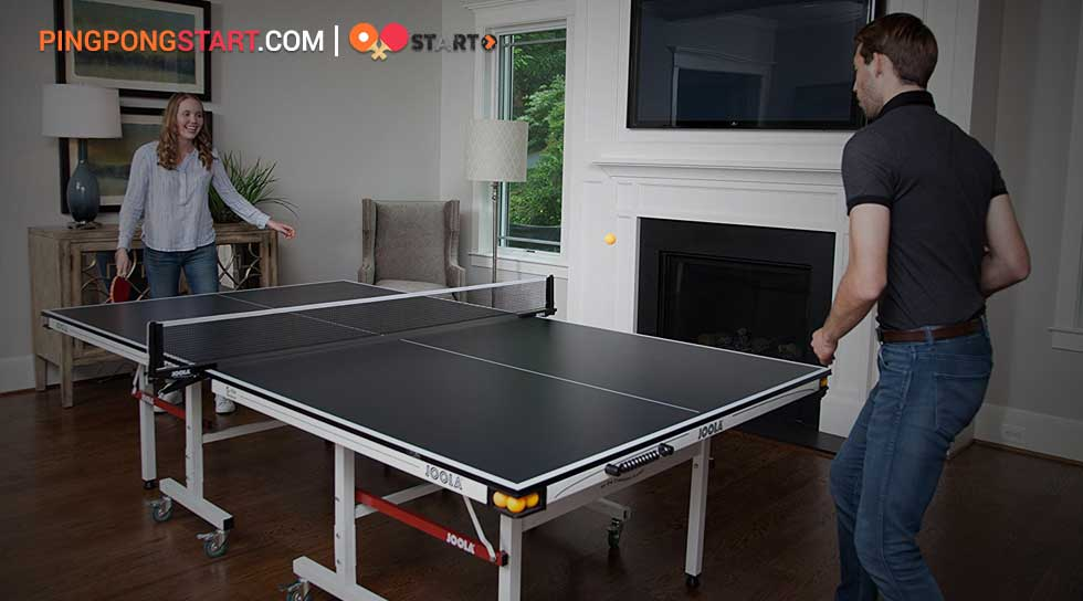 etup the ping pong net