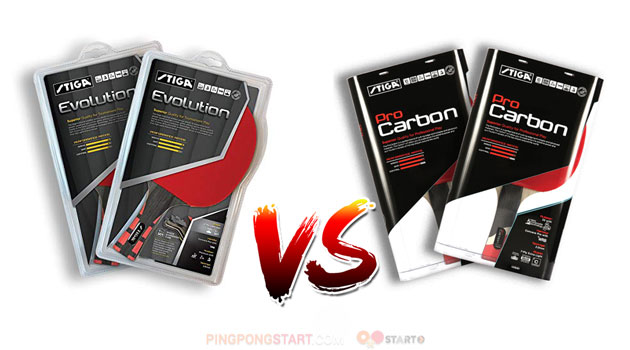 Stiga Evolution vs Pro carbon