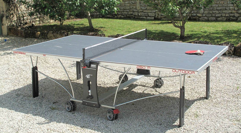 An outdoor ping pong table is quite different from an indoor one