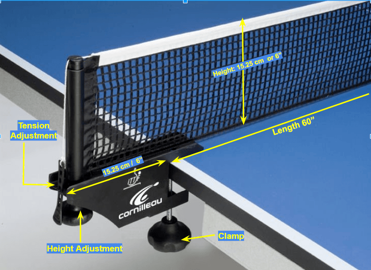 A good ping pong net needs to meet some requirements by ITTF
