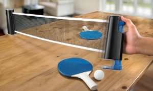 Retractable ping pong nets