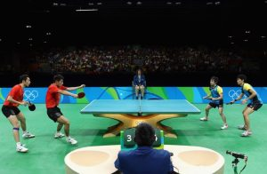 ping pong rules double