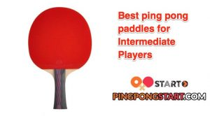 Best ping pong paddles for intermediate