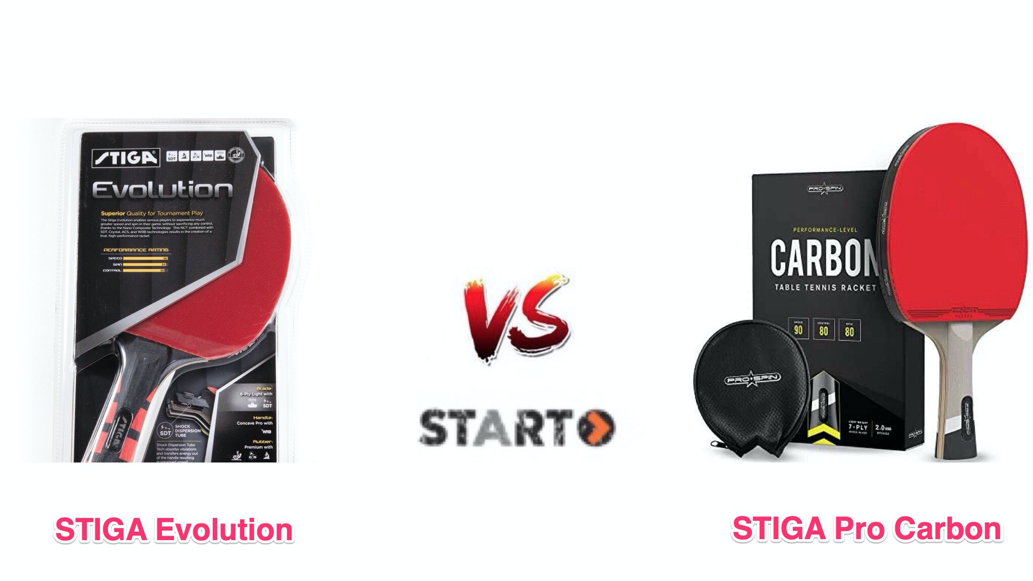 Stiga Evolution vs. Stiga Pro Carbon